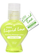 Mini Liquid Love Flavored Warming Massage Lotion Green Apple 1.25 Ounce